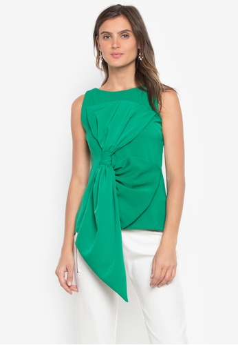 CANVAS green Fatima Top Sleeveless with Exaggerated Ribbon Top 8A266AA6389A00GS_1