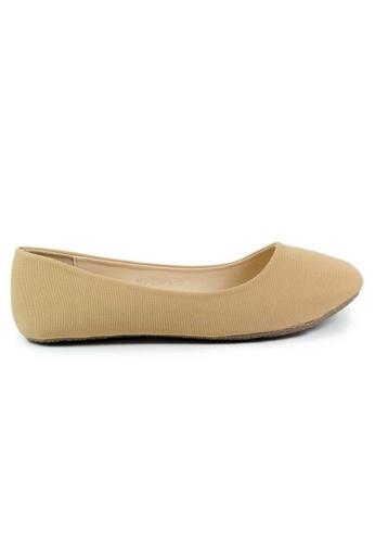 BNC brown and beige Flat Ballerina A9DE9SHA8ACD6AGS_1