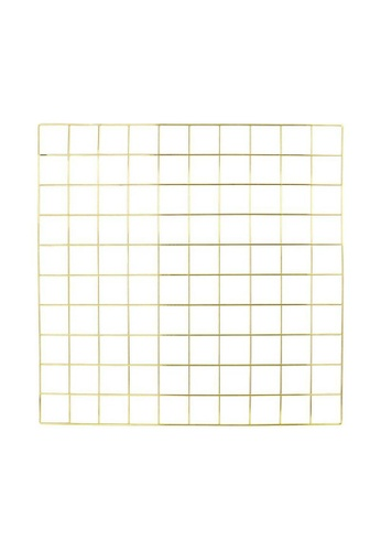 DILAS HOME Metallic Wire Wall Grid (Gold) 914C3HL3E5C75EGS_1