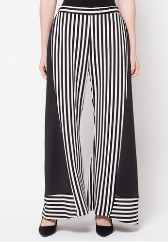 2Madison Avenue Apparel Geo Culottes Pants Black Stripe