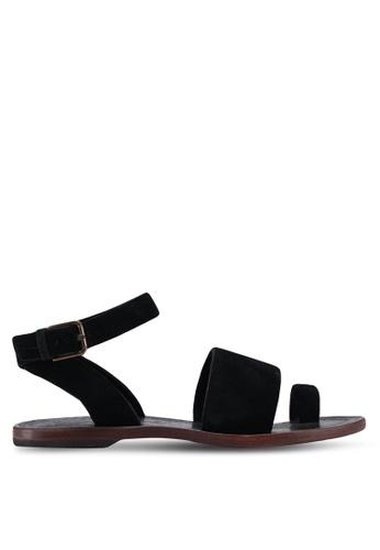 Free People black Torrence Flat Sandals D5F50SH99874B6GS_1