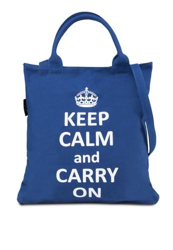 『KEEP CALM』手提肩背托zalora taiwan 時尚購物網特包, 包, 托特包