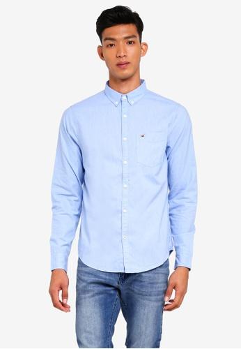 Hollister 藍色 休閒長袖襯衫 25C01AA82247D1GS_1