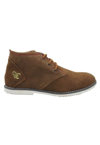 midzone brown Suede Leather High Cut MI949SH96OXBMY_1