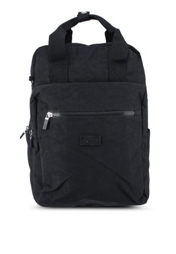 Bagstationz black Crinkled Nylon Backpack C5342ACA4655B6GS_1