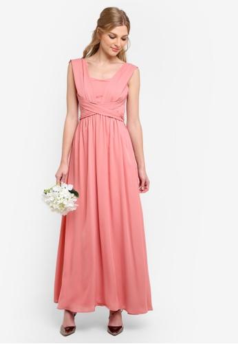 ZALORA pink Bridesmaid Multi Ways Bustier Maxi Dress EA375AAE3172DDGS_1