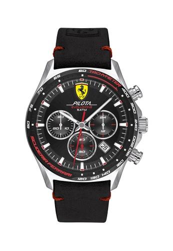 Scuderia Ferrari black Scuderia Ferrari Pilota Evo Black Men's Watch (830710) 7B0F9ACAA22EEBGS_1