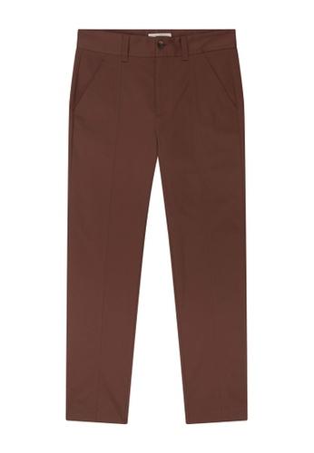 CERRUTI 1881 red Cotton Elastane Satin Sartorial Casual Pants 26B4AAACA78244GS_1