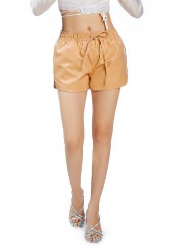 London Rag brown Tan Metallic Shorts F7EF1AA15B3A7CGS_1