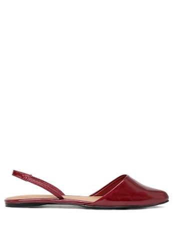 London Rag red Red Closed Toe Slingback Sandal D07DDSHD9CCA58GS_1