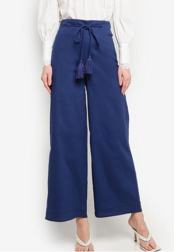 Zalia blue Rope Detail Wide Leg Pants CE4FFAA1AD8128GS_1