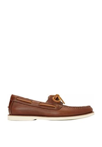 Vionic brown Mens Spring Llyod Boat Shoe EC25FSH4DEC7AEGS_1