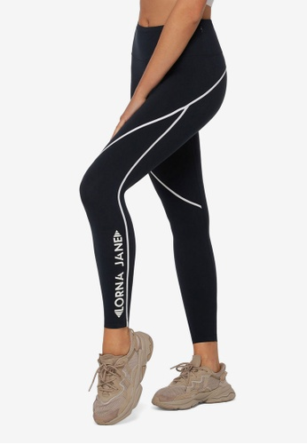 Lorna Jane navy Contrast Stitch Racer Ankle Biter Leggings 06522AAD0ECEE5GS_1