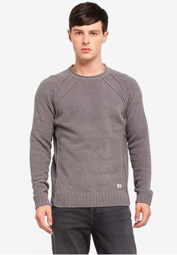 Jack & Jones grey Crew Neck Knit Pullover 0B3DEAA87274B7GS_1