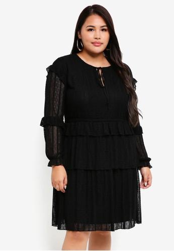 Junarose black Plus Size Ea Mini Dress B584BAA352ED76GS_1