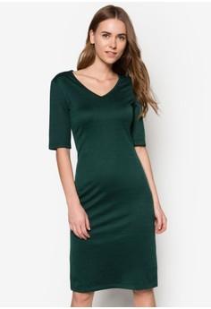 Basic Ribbed Midi Tee Dress