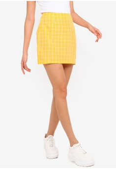 5df2ddefce Something Borrowed yellow Mini Pelmet Skirt 805B1AA5DAFC90GS_1