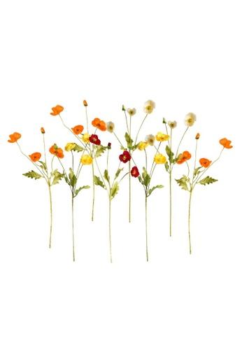 DILAS HOME 8pc Artificial Poppy Flower Bouquet Set FD5A5HL9748AFFGS_1
