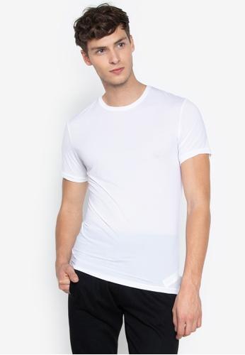 ad4957e6e923 Calvin Klein white CK Men's Weightless Crew Neck T-shirt 556B7AAE2A827EGS_1