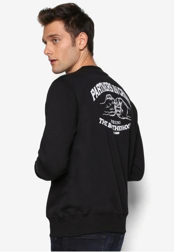 Wrung 黑色 圖暗紋設計長袖衫 WR395AA43QYYMY_1