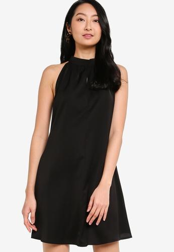 ZALORA BASICS black Halter Neck Swing Dress 52073AA8459BD1GS_1