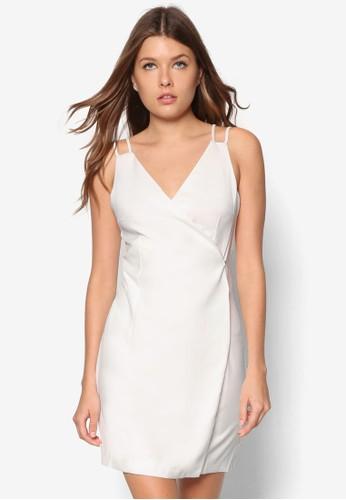 雙肩帶裹飾連zalora是哪裡的牌子身裙, 服飾, 洋裝