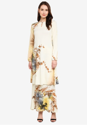 Zuco Fashion beige Mini Kurung Classic Aline Cut 8759FAA4BC3332GS_1