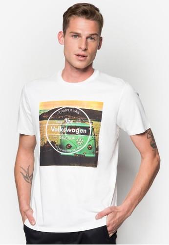圖案文字圓領Tesprit 品牌ee, 服飾, 服飾