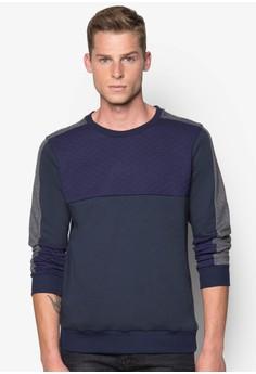 Trendy Sweatshirt with Panel Details