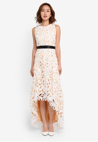 Megane white Red Romance Gisella Full Lace Hi-Low Dress ME617AA0SZWWMY_1