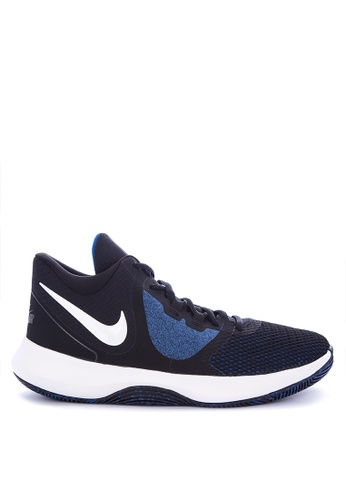 Nike black and white and blue Men's Nike Precision II Basketball Shoes 6F415SHD9D5BEEGS_1