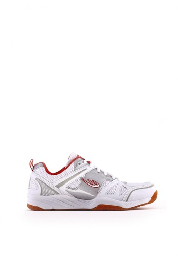 World Balance white Flash Court L Sports Shoes D3785SH6128751GS_1