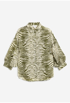 942046922 53% OFF TOPSHOP Zebra Print Shirt RM 209.00 NOW RM 99.00 Sizes 6 8 10 12 14