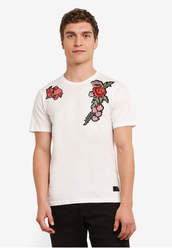 Flesh IMP white Flower Garden Patches T-Shirt FL064AA0S5TTMY_1