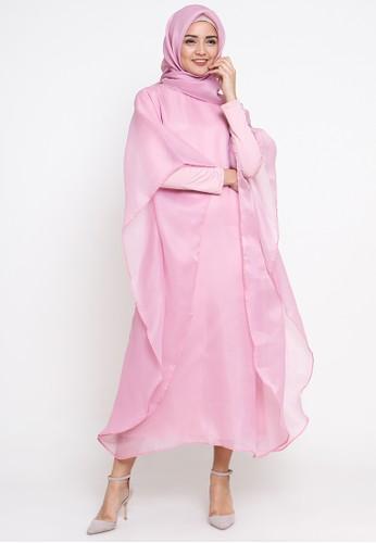 TITAN'S WARDROBE pink Organza Kaftan Pink TI407AA97MZMID_1