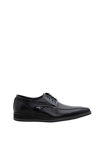 SEMBONIA black SEMBONIA Men Nappa Leather Business Shoe (Black) 88D8ASHDD280EBGS_1