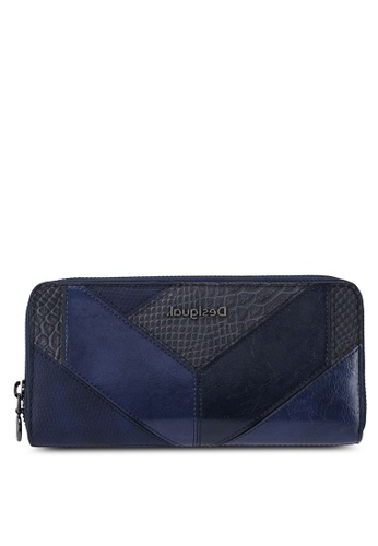 Desigual blue Reptile Patched Long Wallet B9353AC8EE5645GS_1