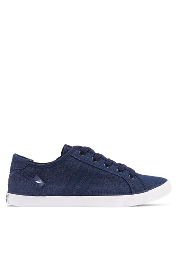 North Star navy Round Toe Laced Up Sneakers 0ECF7SH09D1A96GS_1