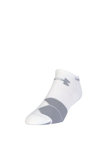Under Armour white UA Run Cushion Tab No Show Socks UN337AC42CKZMY_1