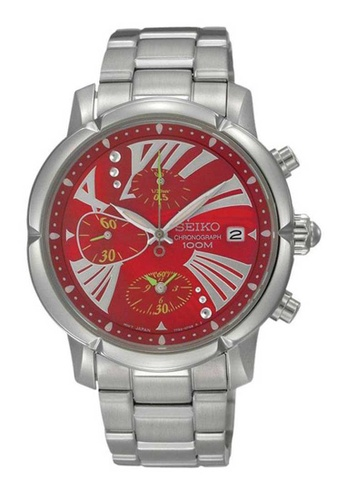 Seiko multi Seiko Criteria Red and Silver Stainless Steel Watch 9A009AC35DD286GS_1