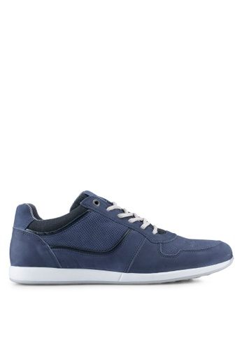Dune London blue Perf Detail Runner Sneakers DU588SH0SZSBMY_1