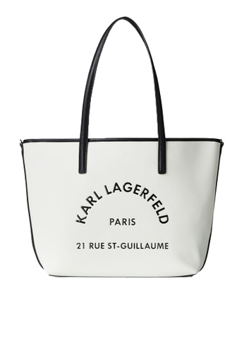 KARL LAGERFELD white Rue St Guillaume Tote 4D138ACF1279E9GS_1