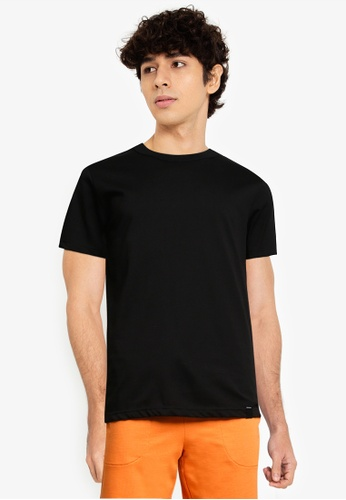 UniqTee black Premium Crew Neck Short Sleeve Tee F0D79AA3283425GS_1