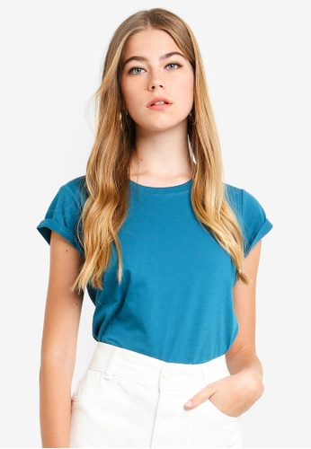 Supre blue Baby Tee EB640AA35FDEF8GS_1