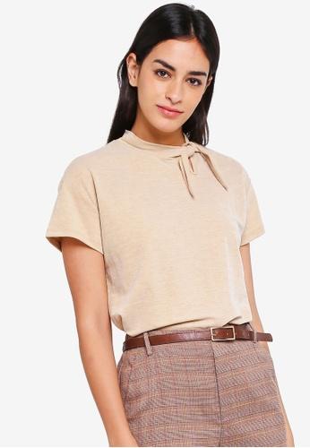 ESPRIT brown Short Sleeve Top 1EC06AAB0506CEGS_1