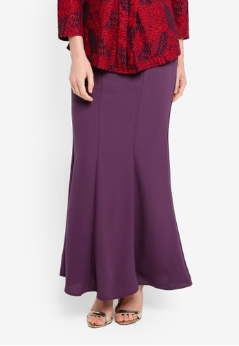 BYN purple Long Maxi Skirt 2092AAAEA1B4F0GS_1