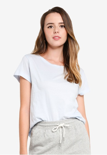 H&M blue Cotton T-Shirt 278B3AAC3CA55CGS_1