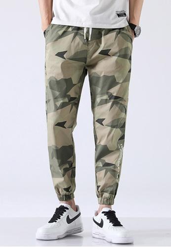 Trendyshop green Camo Skinny Jogger Pants 2DCB1AA7C591B7GS_1