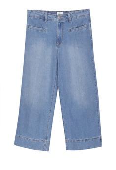 831bb57f675e Cotton On blue Mid Rise Wide Leg Crop Jeans 69DD0AAF1174E4GS 1
