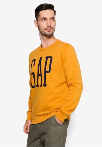 GAP yellow Logo Sweatshirt EC341AA7F90C3DGS_1